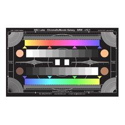 DSC Labs - SRW-CDM12+4R - DSC Labs SRW22-CDM124R ChromaDuMonde 12-Plus-4 Color Correction Test Chart with Resolution - Senior 24 x 14.7
