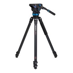Benro Precision Photography - BNRO-A373FBS8 - A373FBS8 Aluminum Video Tripod Kit with S Video Heads
