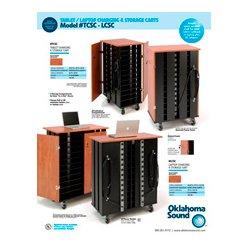 Oklahoma Sound - TCSC - Oklahoma Sound Tablet Charging & Storage Cart