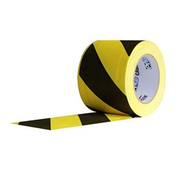 Pro Tapes & Specialties - 001CP630MSS - Pro Tapes 6-Inch x 30 Yard Yellow/Black Safety Stripe Cable Path Tape