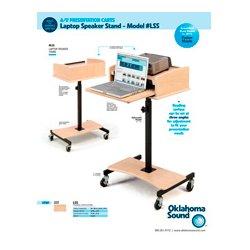 Oklahoma Sound - LSS-CH - Oklahoma Sound Laptop Speaker Stand - Cherry