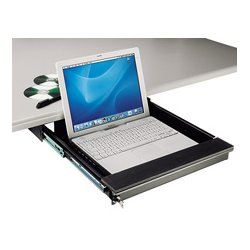 TecNec - TN-LTD - Under Desk Mount Lockable Laptop Drawer for Laptops to 17 In.