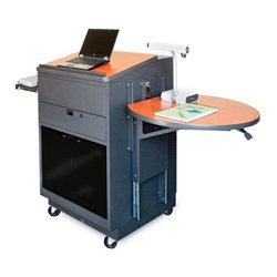 Marvel Office Furniture - MVLMA3030CHDT-E - Lectern/Media Center - Acrylic Door; Earpiece Mic- Cherry