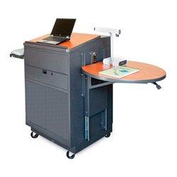 Marvel Office Furniture - MVLMM3030CHDT-E - Lectern/Media Center - Steel Door; Earpiece Mic - Cherry