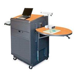 Marvel Office Furniture - MVLMM3030OKDT-E - Lectern/Media Center - Steel Door; Earpiece Mic - Oak