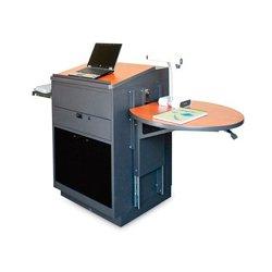 Marvel Office Furniture - MVLSA3030CHDT-E - Stationary Lectern - Acrylic Door; Earpiece Mic - Cherry
