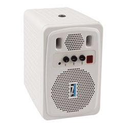 Anchor Audio - 130P-BSTK - AN-130 Plus 30 Watt Powered Monitor - White - B-Stock (Opened Box)