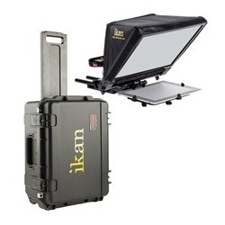ikan - PT-ELITE-V2-TK - iKan PT-ELITE-V2 TeleprompterTravel Kit with Rolling Hard Case
