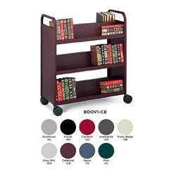 Bretford - BOOV1-TZ - Bretford Mobile Book and Utility Truck with 6 Slant Shelves- Topaz