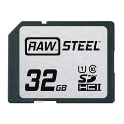 Hoodman - RAWSDHC32GBU1 - Hoodman RAW STEEL 32 GB SDHC - Class 10/UHS-I - 90 MB/s Read - 60 MB/s Write - 1 Card - 600x Memory Speed