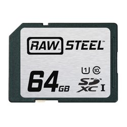Hoodman - RAWSDXC64GBU1 - Hoodman Raw Steel Class 10 SDHC Card - 64GB