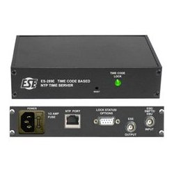 ESE - ES-289E/P/UL - Time Code Referenced NTP Time Server with 19 Inch Rack Mount and UL Approved Wall Mount Power Supply
