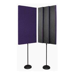 Auralex Acoustics - PROMAX-V2PUR - Auralex Acoustic Panels with Floor Stands - Pair Purple