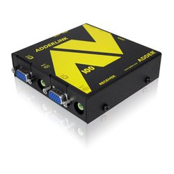 Adder - ALAV100P-US - Adder AV 100 series extender pair, point to point, No DeSkew, outputs to 2 displays