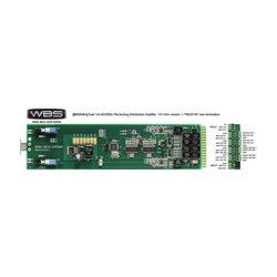 Ward-Beck Systems - D8201A+RM - Ward-Beck 1x8 or Dual 1x4 AES/EBU Reclocking Distribution Amplifier