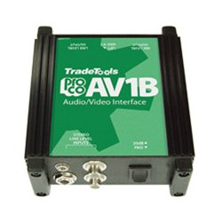 ProCo Sound - AV-1 - ProCo Sound AV1 Audio/Video High to Low Impedance Interface Box
