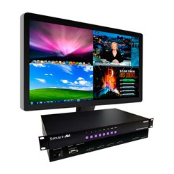 Smart AVI - SM-HDMV-S - SmartAVI 4-Port HDMI, Real-Time Multiviewer with PiP/Dual/Quad/Full Modes - 1920 x 1200 - WUXGA - 4 x 1 - 1 x HDMI Out