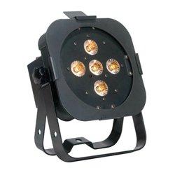 American DJ - FLAT PAR TW5 - 25 Watt White LED Par Fixture 5 x 5 Watt Tri LED 3-in-1