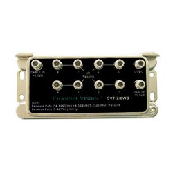 Channel Vision - 2/8WB - Channel Vision 2 In x 8 Out Amplified Splitter