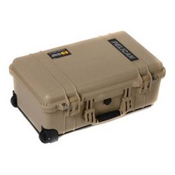 Pelican - 015100-0040-190 - Pelican Air 1510 Wheeled Carry On Case with Dividers - Desert Tan