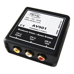 Energy Transformation Systems - AV906WP-WH - Baseband Video/Stereo - 4 RCA TO 110 Punch Down White