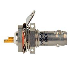 Trompeter Electronics - BJ450WS - 1553 Twinax Bulkhead Jack, Straight, Rear Mount, Solder Pot, 3-lug, Socket Contact