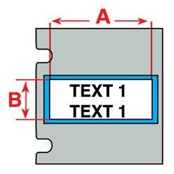 """Brady - PSPT-375-1-WT - 41/64""""H x 1-1/64""""W White Polyolefin Wire Marker Sleeves"""