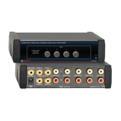 Radio Design Labs (RDL) - EZAVX4 - RDL EZ-AVX4 Composite Video and Stereo Audio Input Switcher - 4X1