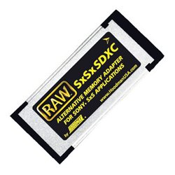 Hoodman - SXSXSDXC - Hoodman RAW SxSxSDXC Memory Adapter - SDHC, SDXC Media Supported - SxS
