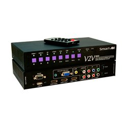 Smart AVI - V2V-MAX-S - SmartAVI Full HD Multi Format, 6-Port Switcher with Integrated Scaler - 1920 x 1080 - Full HD - 6 x 1 - 1 x HDMI Out