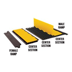 Checkers Industrial - YJ5-125AMSCTRYB - Checkers Yellow Jacket 5-Channel AMS Center Section - Yellow/Black