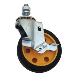 Rock-n-Roller Multicarts - RNR-R4CSTR-YB - 4 Inch G-Force Caster with Brake (for R2 & R6)
