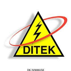 Ditek - 3VWMUSB - Ditek DTK-3VWMUSB 3-outlet wall-mount charging s