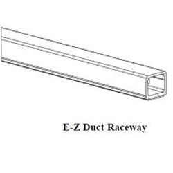 GRI (George Risk Industries) - E-Z 75 6-W - GRI EZ Duct Raceway, 5/8 x 1 1/4, bag of 6, 6' lengths, white - Raceway - White