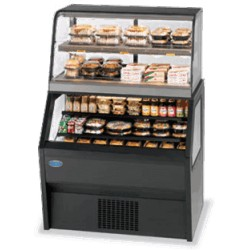 Federal - 2CH3628SS/RSS6SC - 2CH3628SS/RSS6SC Specialty Display Hybrid Merchandiser Refrigerated Self-Serve Bottom With Hot Self-Serve Top