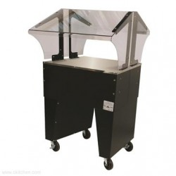 Advance Tabco - B2-STU-B - B2-STU-B Portable Solid Top Buffet Table