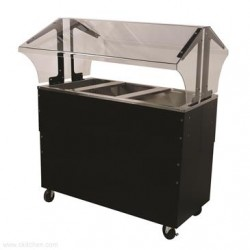 Advance Tabco - B3-CPU-B-SB-X - B3-CPU-B-SB-X Ice Cooled Portable Food Buffet Table