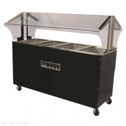 Advance Tabco - B4-120-B-SB - B4-120-B-SB Portable Hot Food Buffet Table