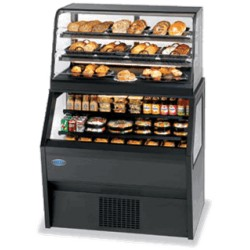 Federal - CD3628/RSS3SC - CD3628/RSS3SC Specialty Display Hybrid Merchandiser Refrigerated Self-Serve Bottom With Non-Refrigerated Service Top