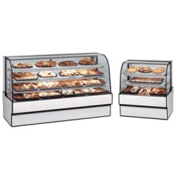 Federal - CGD7742 - CGD7742 Curved Glass Non-Refrigerated Bakery Case