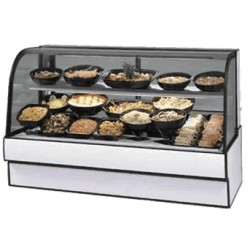 Federal - CGR7748CD - CGR7748CD Curved Glass Refrigerated Deli Case