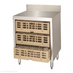 Advance Tabco - CRCR-24-X - CRCR-24-X Underbar Basics Closed Glass Rack Cabinet