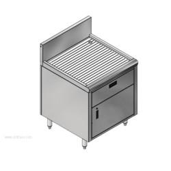 Advance Tabco - PRSCD-19-24-DWR - PRSCD-19-24-DWR Prestige Underbar Drainboard Cabinet