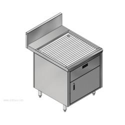 Advance Tabco - PRSCD-24-24-DWR - PRSCD-24-24-DWR Prestige Underbar Drainboard Cabinet