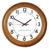 American Time & Signal - E56LGND304BP-WEB - Clock Rc 12' Wood Light Oak Ch 4 Battery Booster Poly Lens