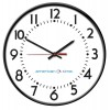 American Time & Signal - R64BHQD989BP-WEB - Clock America Allset 15' Round/surface Black Ch 89 W/ Battery Booster