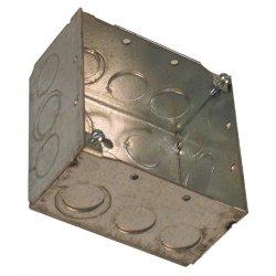American Time & Signal - 3017-web - Backbox 4 X 4 X 2-1/4d Fits Double Dial Clocks