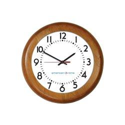 American Time & Signal - E56lgdd304bp-web - Clock Quartz 12 Wood Light Oak Ch 4 W/ Battery Booster Poly Lens