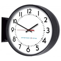 American Time & Signal - E93baqd204bp-web - Clock Allset 12 Round/ddw Blackch 4 W/ Battery Booster