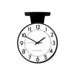 American Time & Signal - Pe52bhpd204l-web - Clock Poe 12 Round/ddc Black Ch 4 Logo